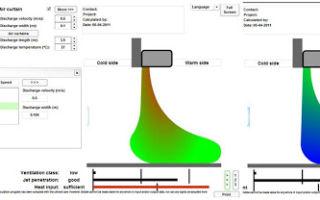 Расчет воздушно-тепловых завес на основе нового вида представления экспериментальных данных о тепловых и массовых потерях