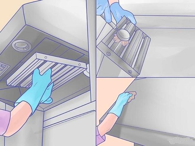 Как очистить кухонную вытяжку: последовательность действий