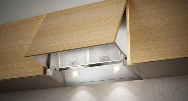 Кухонная вытяжка с дополнительной панелью для воздухозабора