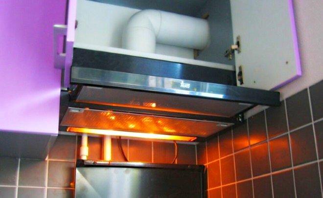 Вытяжка в кухонном гарнитуре