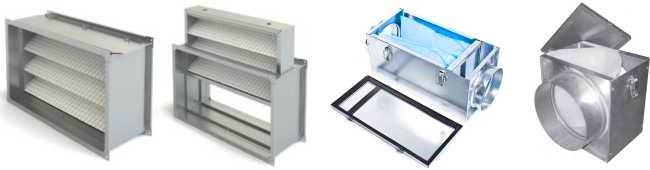 Канальные фильтры для вентиляции