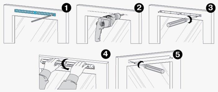 Установка приточного клапана на пластиковые окна осуществляется в 5 этапов