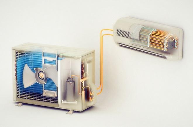 Внутренний и наружный блок кондиционера
