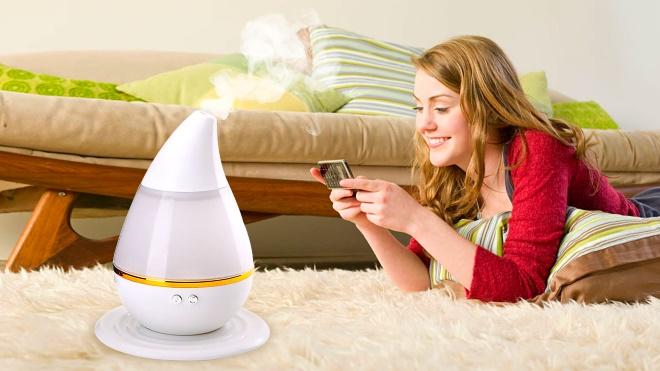 Ультразвуковой увлажнитель воздуха в комнате