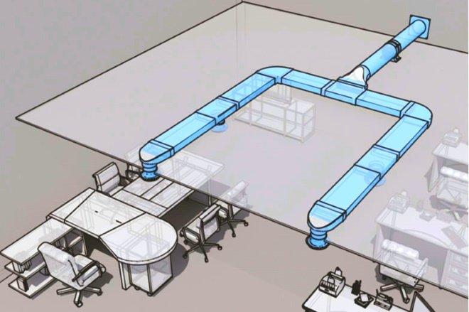 Приточно вытяжные анемостаты в современных офисах позволяют регулировать объём свежего воздуха в помещении