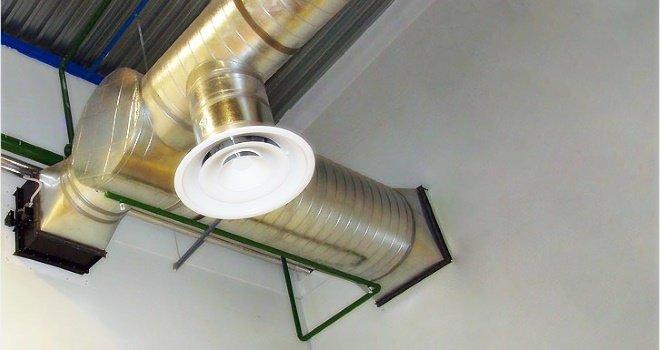 Металлический воздуховод под анемостат