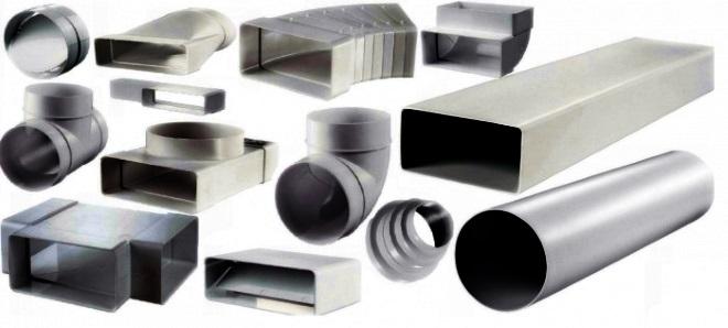 Воздуховоды разного размера и сечения