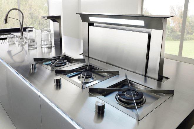кухонная вытяжка с выводом загрязненного воздуха