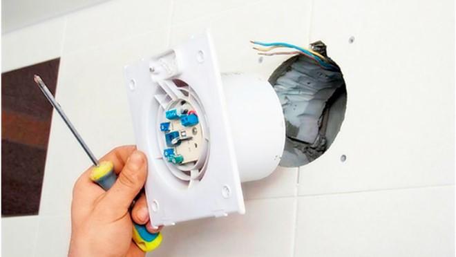 Как установить вытяжной вентилятор